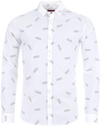 5bc3fe7d HUGO By Boss Ero3 Shirt White in White for Men - Lyst