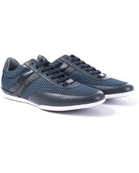 BOSS by Hugo Boss - Space Trainers In Navy - Lyst