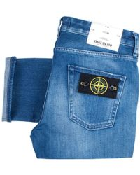 Stone Island - Slim Fit Jeans In Used Wash - Lyst