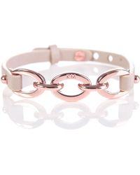 Karen Millen - Chain Link Leather Bracelet - Lyst