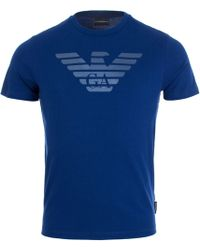 Emporio Armani - Double Reflective Eagle Print T-shirt - Lyst