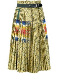 Sacai - Printed Skirt - Lyst