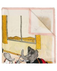 Lanvin Babar The Elephant Print Scarf - Multicolour