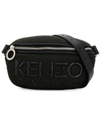 KENZO Kombo Logo Belt Bag - Black