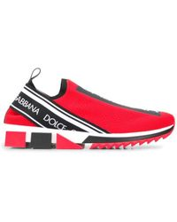 Dolce & Gabbana Logo Sneakers - Red