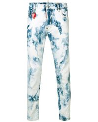 DSquared² - Bleached Slim Fit Jeans - Lyst