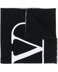 Valentino - Jacquard Logo Knit Scarf - Lyst