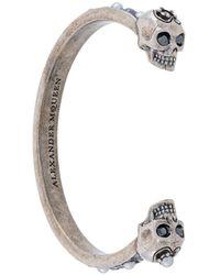 Alexander McQueen Skull Cuff Bracelet - Metallic