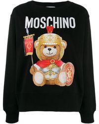 Moschino Teddy Bear Print Sweatshirt - Black