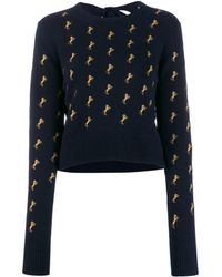 Chloé - Horse Embroidered Jumper - Lyst