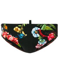 DSquared² - Floral Print Swimming Trunks - Lyst