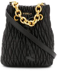 Furla - Stasy Quilted Bucket Bag - Lyst