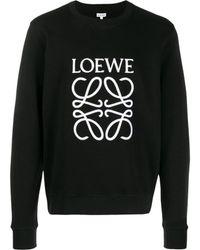 Loewe - Embroidered Logo Sweatshirt - Lyst