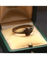 Erica Weiner - Victorian Brass Heart Ring - Lyst