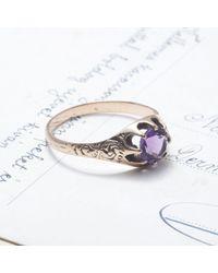 Erica Weiner - Amethyst Claw-set Ring - Lyst