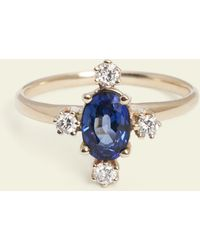 Erica Weiner - Cardinal Points Sapphire And Diamond Ring - Lyst