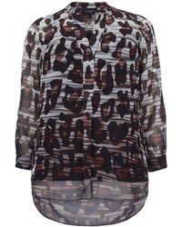 49dd5b8f1acc5e Evans -   live Unlimited Black Animal Print Ombre Shirt - Lyst