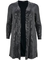 Evans - Silver Sequin Embellished Cover Up - Lyst