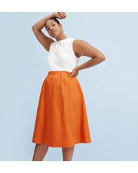 Everlane - The Clean Cotton A-line Skirt - Lyst