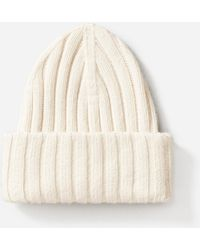 Everlane - The Wool-cashmere Rib Chunky Beanie - Lyst