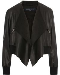 French Connection - Abellana Pu Waterfall Bomber Jacket - Lyst