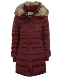 Calvin Klein - Quilted Down Long Coat - Lyst