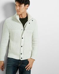 Express - Sherpa Lined Mock Neck Fleece Jumper - Lyst