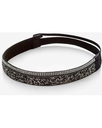 Express - Set Of Two Crystal Bead Headbands - Lyst