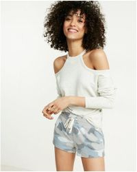 Express - One Eleven Camouflage Brushed Shorts - Lyst