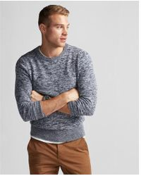 Express - Marled Crew Neck Sweater - Lyst