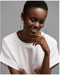 Express - Interlock Hoop Earrings - Lyst