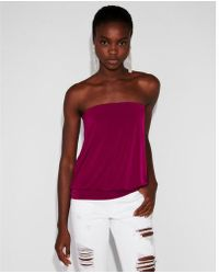 Express - Banded Bottom Tube Top - Lyst
