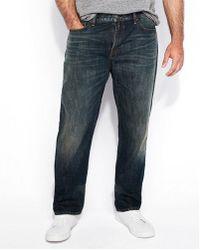 Express - Classic Straight Dark Wash Stretch Jeans, Men's Size:w28 L28 - Lyst