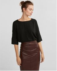 Express - Silky Cocoon Blouse - Lyst