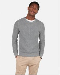 Express - Chevron Stitch Crew Neck Sweater - Lyst