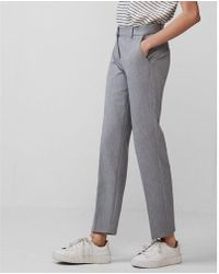 Express - Petite Mid Rise Columnist Ankle Pant - Lyst