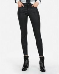Express - Mid Rise Sparkle Stretch Ankle Leggings - Lyst