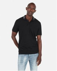 Express - Graphic Stretch Pique Polo - Lyst