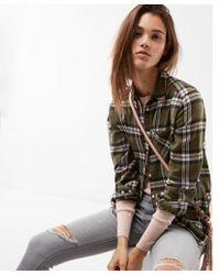 Express | Plaid One Pocket Flannel Shirt | Lyst