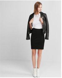 Express - High Waisted Seamed Pencil Skirt - Lyst