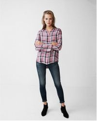 Express | Plaid Bell Sleeve Shirt | Lyst