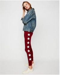 Express - Star Marled Stretch Terry Leggings - Lyst