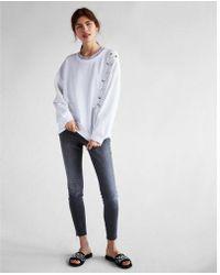 Express - One Eleven Asymmetrical Lace-up Sweatshirt - Lyst