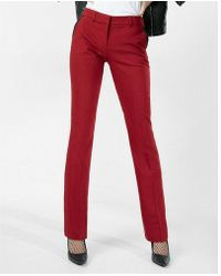 Express - Mid Rise Piped Barely Boot Columnist Pant - Lyst