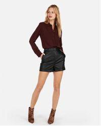 Express - Slim Fit Beaded Portofino Shirt - Lyst