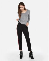 Express - One Eleven Long Sleeve Abbreviated Boxy Tee - Lyst