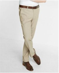 Express - Men's Slim Chambray Khaki Dress Pant - Lyst