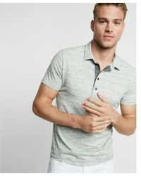 Express - Marled Moisture-wicking Stretch Polo - Lyst
