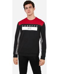 Express - Heat Sealed Graphic Sweatshirt Red - Lyst