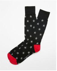 Express | Star Print Dress Socks | Lyst